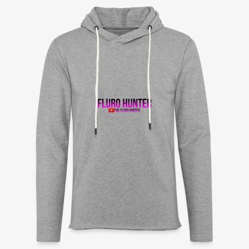 The Fluro Hunter Black And Purple Gradient - Unisex Lightweight Terry Hoodie