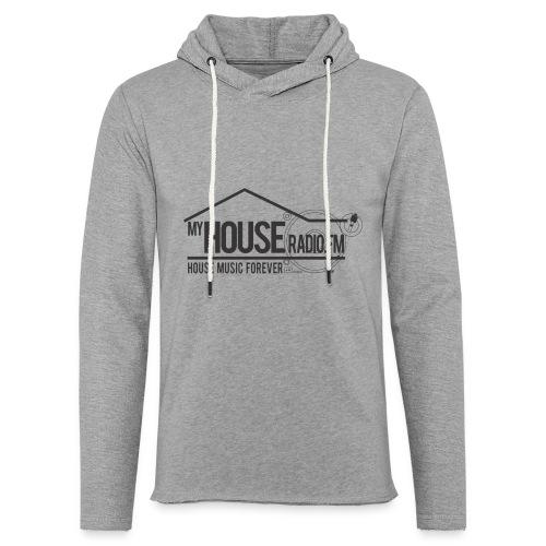 My House Radio Black Logo - Unisex Lightweight Terry Hoodie