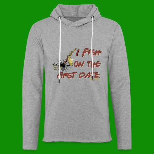 Fish on the First Date - Unisex Lightweight Terry Hoodie