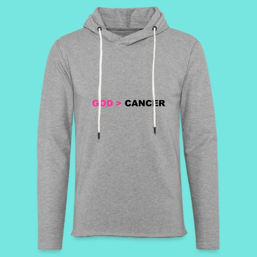 GOD IS GREATER THAN CANCER - Unisex Lightweight Terry Hoodie