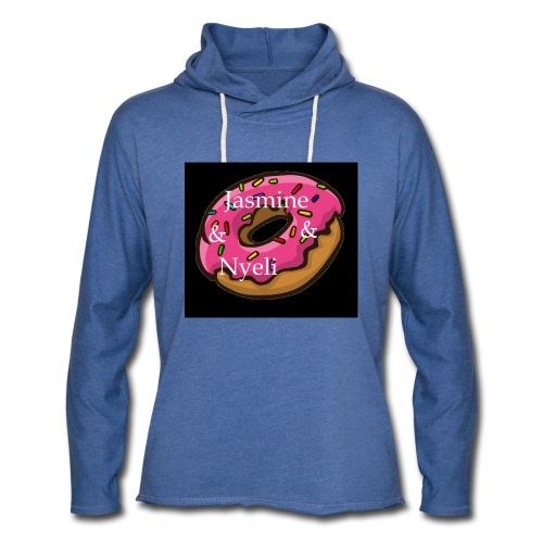 Black Donut W/ Our Channel Name - Unisex Lightweight Terry Hoodie