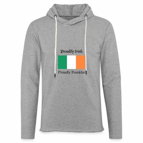 Proudly Irish, Proudly Franklin - Unisex Lightweight Terry Hoodie