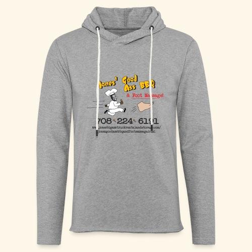 Jones Good Ass BBQ and Foot Massage logo - Unisex Lightweight Terry Hoodie