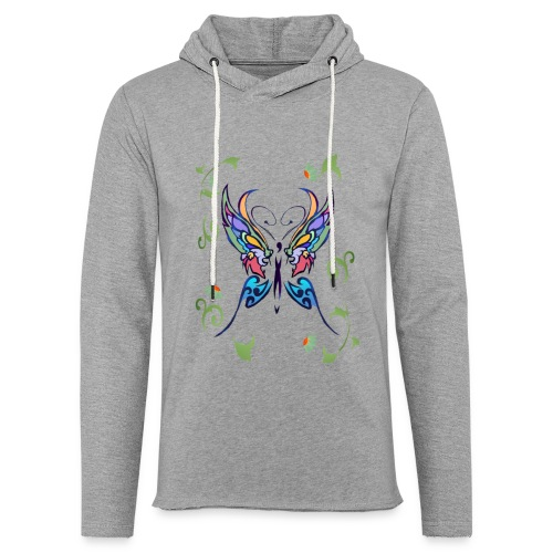 Bright Butterfly - Unisex Lightweight Terry Hoodie