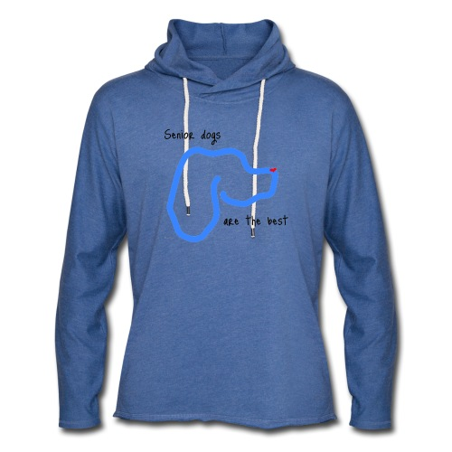 Senior Dogs are the Best - Unisex Lightweight Terry Hoodie