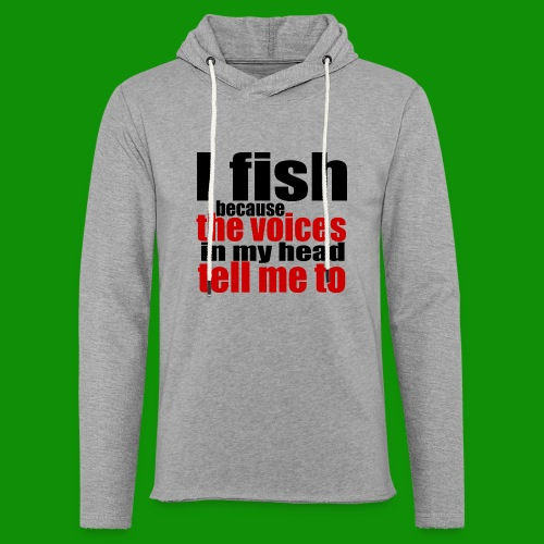 Fishing Voices - Unisex Lightweight Terry Hoodie