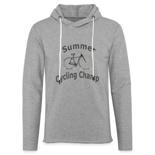 Summer Cycling Champ - Unisex Lightweight Terry Hoodie