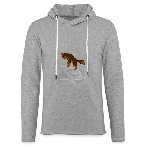 Wolf looking down on Boulder - Unisex Lightweight Terry Hoodie