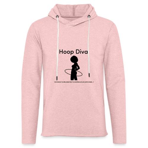 Hoop Diva Black Silhouette - Unisex Lightweight Terry Hoodie