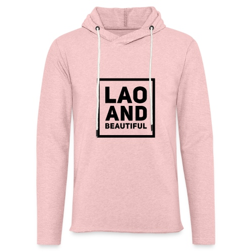 LAO AND BEAUTIFUL black - Unisex Lightweight Terry Hoodie