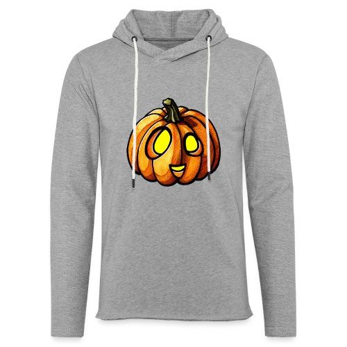 Pumpkin Halloween watercolor scribblesirii - Unisex Lightweight Terry Hoodie