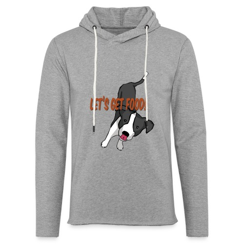 Foodie Dog Border Collie - Unisex Lightweight Terry Hoodie