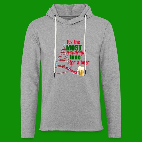 Most Wonderful Time For A Beer - Unisex Lightweight Terry Hoodie