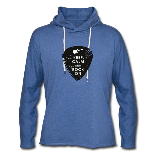 Keep calm and rock on - Unisex Lightweight Terry Hoodie