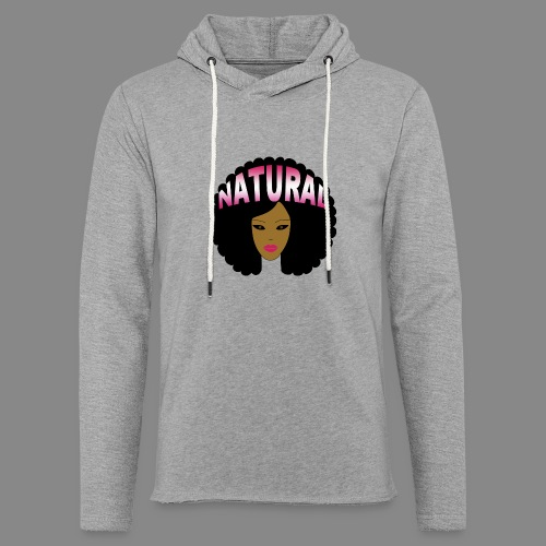 Natural Afro (Pink) - Unisex Lightweight Terry Hoodie