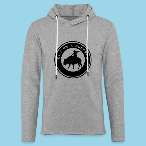 Guy On A Buffalo - Unisex Lightweight Terry Hoodie