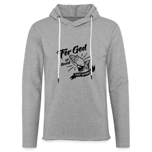 For God So Loved The World… - Alt. Design (Black) - Unisex Lightweight Terry Hoodie