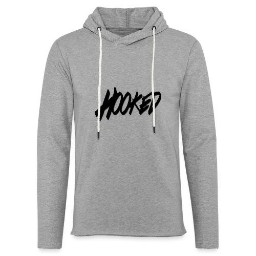 Hooked black logo - Unisex Lightweight Terry Hoodie