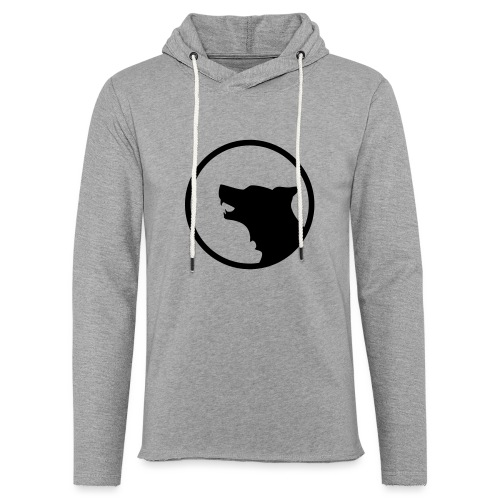 Wolf Silhouette Vector - Unisex Lightweight Terry Hoodie