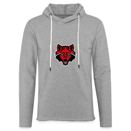 Red Wolf - Unisex Lightweight Terry Hoodie