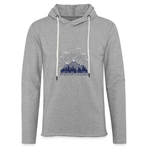 Adventure Mountains T-shirts and Products - Unisex Lightweight Terry Hoodie