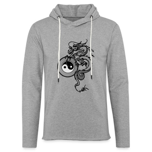 dragon with yin yang - Unisex Lightweight Terry Hoodie