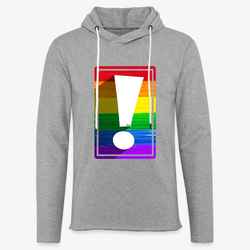 LGBTQ Pride Exclamation Point - Unisex Lightweight Terry Hoodie