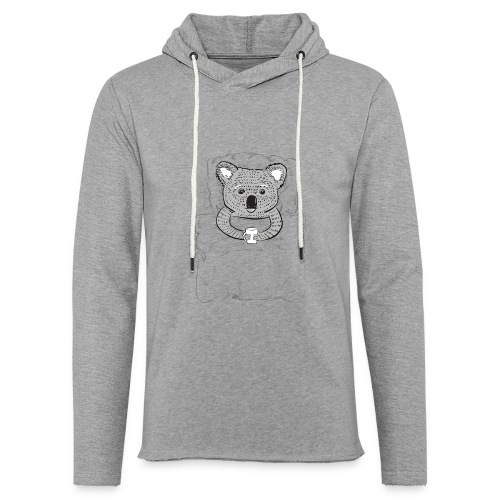 Print With Koala Lying In A Bed - Unisex Lightweight Terry Hoodie