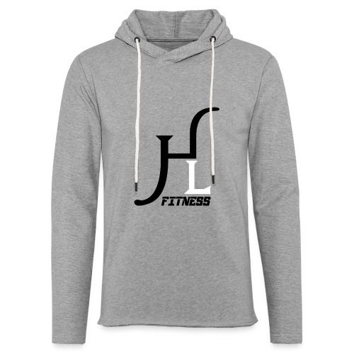 HIIT Life Fitness logo white - Unisex Lightweight Terry Hoodie
