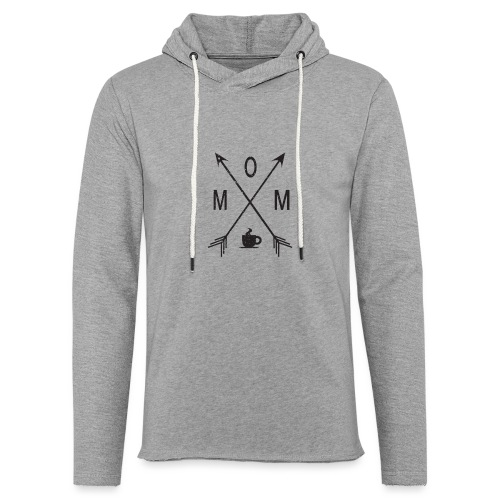 Mom Loves Coffee (black ink) - Unisex Lightweight Terry Hoodie