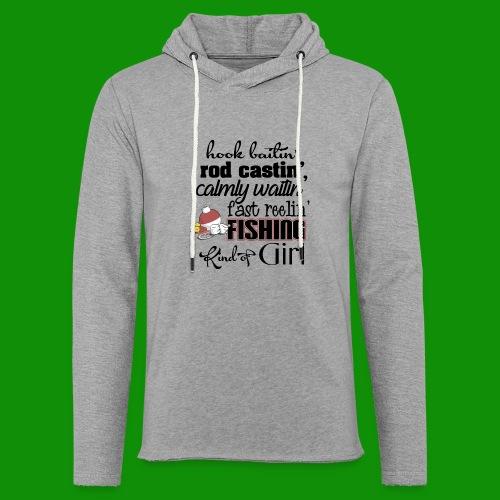 Fishing Kind of Girl - Unisex Lightweight Terry Hoodie