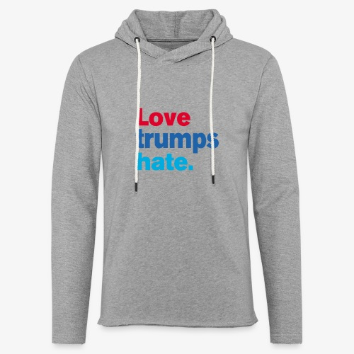 Love Trumps Hate - Unisex Lightweight Terry Hoodie