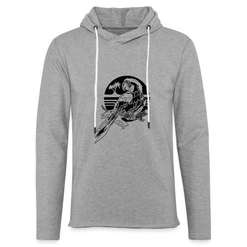 Tropical Parrot - Unisex Lightweight Terry Hoodie