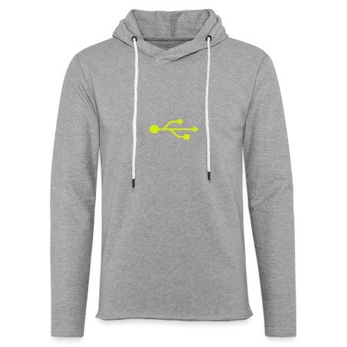 Yellow USB Logo Mid - Unisex Lightweight Terry Hoodie