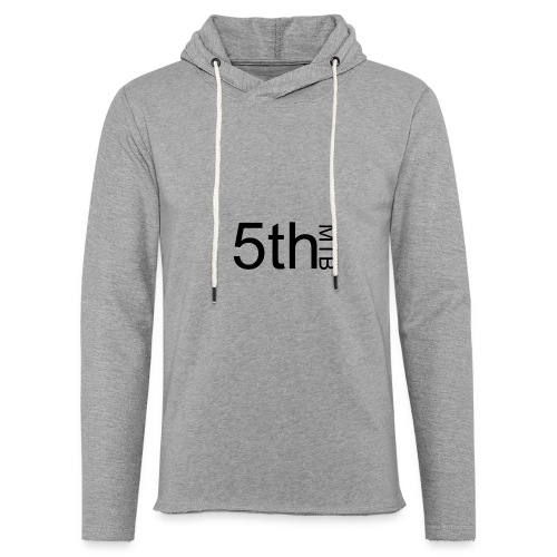 Black original logo - Unisex Lightweight Terry Hoodie