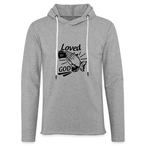 Loved By God (Black Letters) - Unisex Lightweight Terry Hoodie