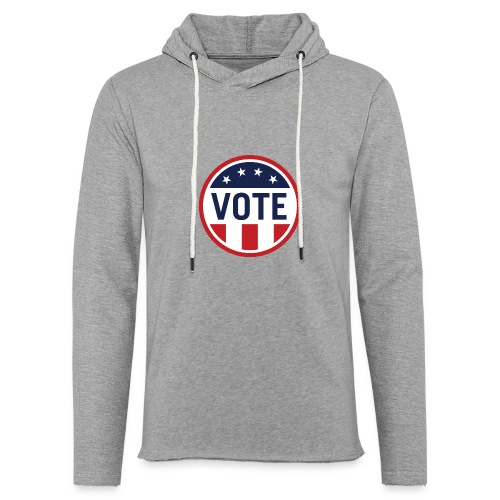 Vote Red White and Blue Stars and Stripes - Unisex Lightweight Terry Hoodie