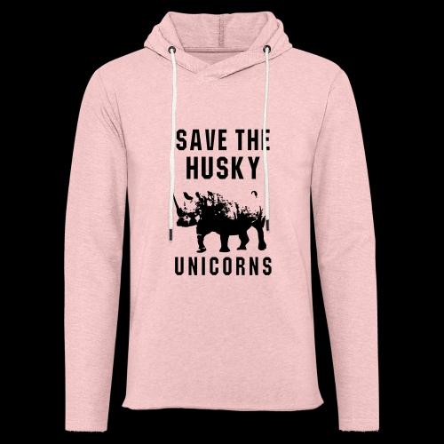 Save the Husky Unicorns | Funny Rhino - Unisex Lightweight Terry Hoodie