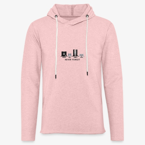 Never forget - Unisex Lightweight Terry Hoodie