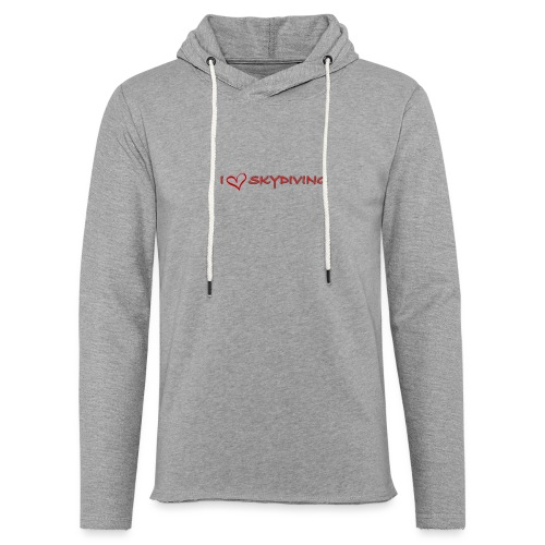 I love skydiving T-shirt/BookSkydive - Unisex Lightweight Terry Hoodie
