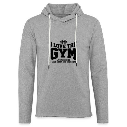 I love the gym - Unisex Lightweight Terry Hoodie