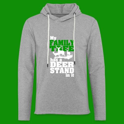 Deer Stand Family Tree - Unisex Lightweight Terry Hoodie