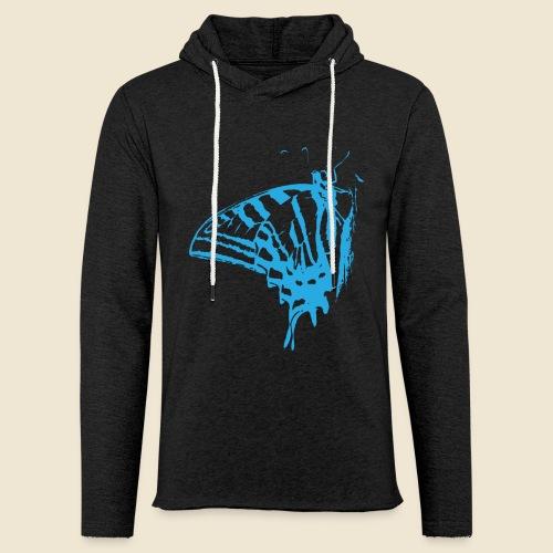 Blue Butterfly - Unisex Lightweight Terry Hoodie