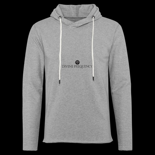 Black Divine Frequency - Unisex Lightweight Terry Hoodie
