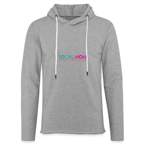 Social.mom Logo English - Unisex Lightweight Terry Hoodie