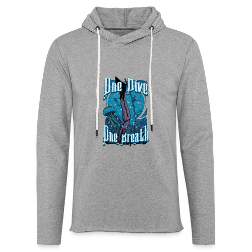 One Dive One Breath Freediving - Unisex Lightweight Terry Hoodie