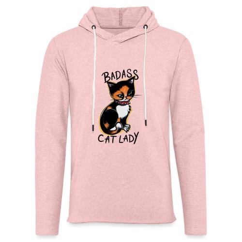 Badass cat lady - Unisex Lightweight Terry Hoodie