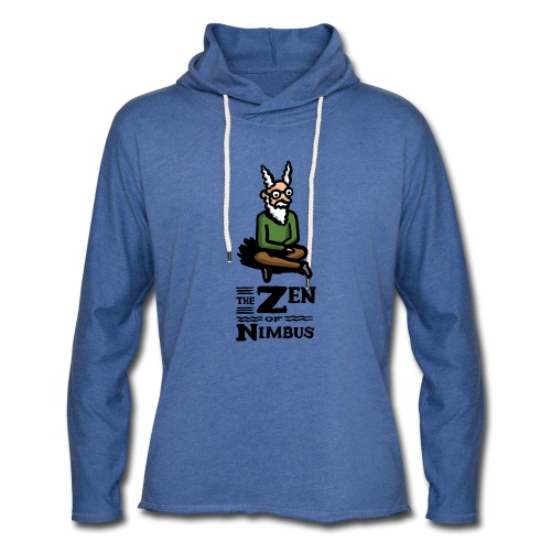 Nimbus character in color and logo vertical - Unisex Lightweight Terry Hoodie