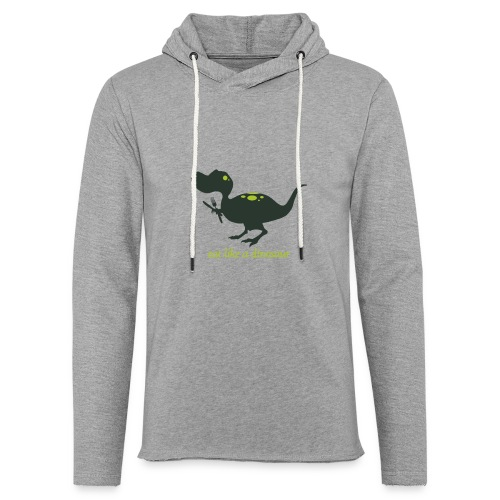 Eat Like A Dinosaur - Unisex Lightweight Terry Hoodie