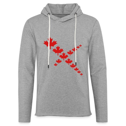 Maple Leafs Cross - Unisex Lightweight Terry Hoodie